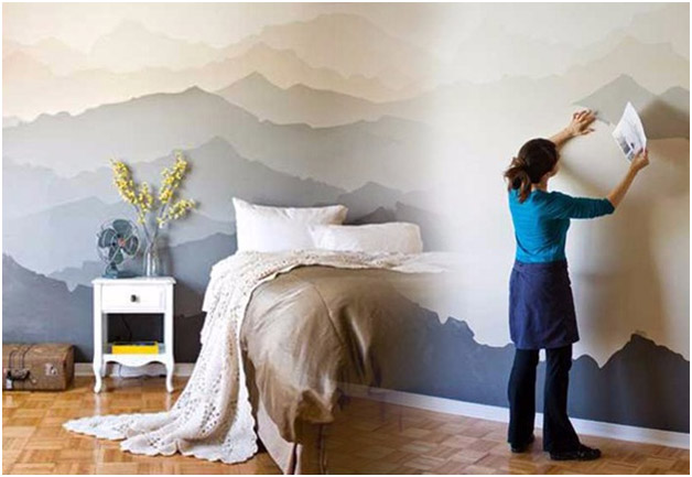 This Hand Painted Wall Art Mural Are Perfect If You Admire Murals The Peaceful Mountain Is One Of Our Personal Favorites For Home Interiors